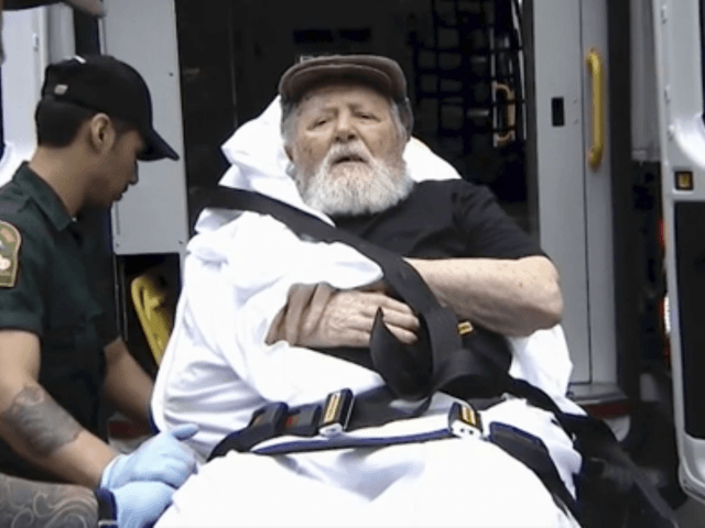 In this Monday, Aug. 20, 2018, frame from video, Jakiw Palij, a former Nazi concentration camp guard, is carried on a stretcher from his home into a waiting ambulance in the Queens borough of New York. Palij, the last Nazi war crimes suspect facing deportation from the U.S. was taken …