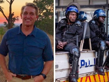 Jeff Flake in ZImbabwe 2 (Twitter, Marco Longari / Getty / AFP)