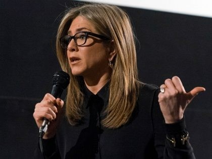 Actress Jennifer Aniston attends the Q&A for American Cinematheque hosts special screening of 'Cake' the Egyptian Theatre on November 19, 2014 in Hollywood, California. (Photo by Valerie Macon/Getty Images)