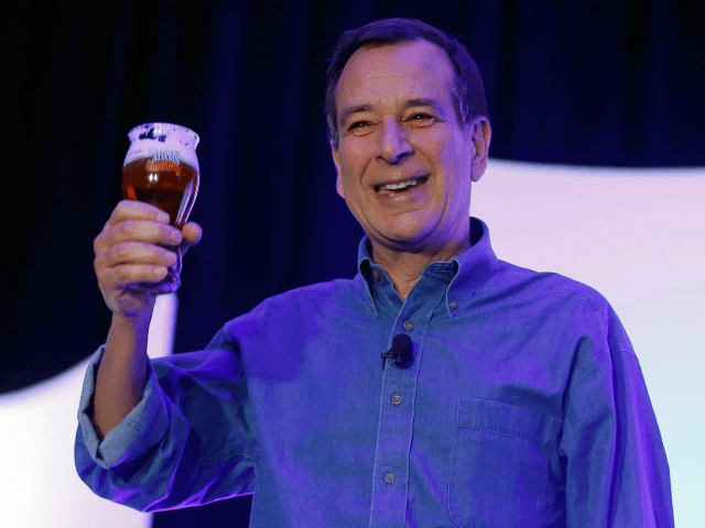 Founder and Chairman of the Boston Beer Co. Jim Koch delivers a keynote address at the 28th annual Nightclub & Bar Convention and Trade Show at the Las Vegas Convention Center on March 19, 2013 in Las Vegas, Nevada. (Photo by Isaac Brekken/Getty Images for Nightclub & Bar Media Group)