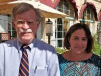 John Bolton and Caroline Glick (Breitbart News)