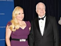 "FILE - In this May 3, 2014 file photo, Meghan McCain, and Sen. John McCain attend the White House Correspondents' Association Dinner in Washington. Meghan McCain says that President Trump's reference at a conservative conference last week to her father's vote on a health care bill was ""incredibly hurtful."" She …"