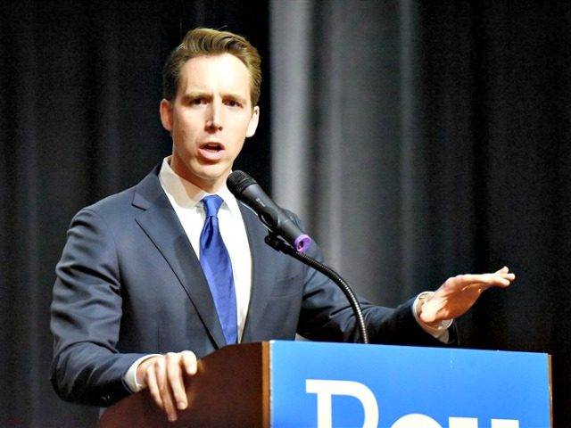 Josh Hawley Missouri Attorney General Josh Hawley makes his acceptance speech on November 9, 2016, in Springfield, Missouri.