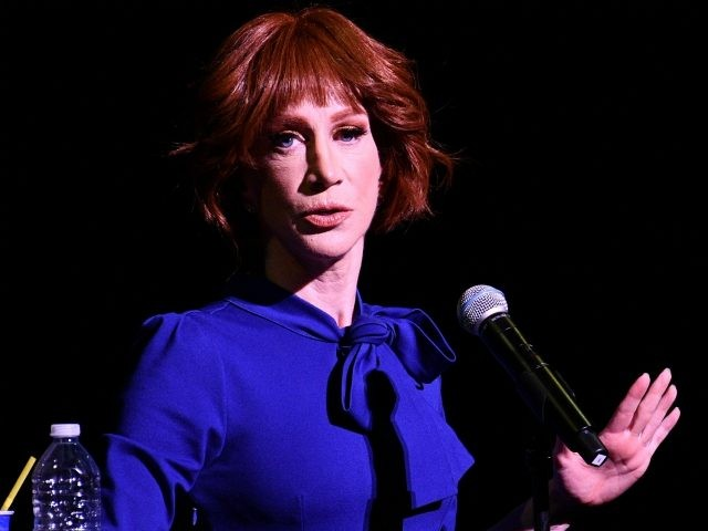 Comedian Kathy Griffin performs during her 'Laugh Your Head Off' Tour at Dolby Theatre on July 19, 2018 in Hollywood, California. (Photo by Allen Berezovsky/Getty Images)