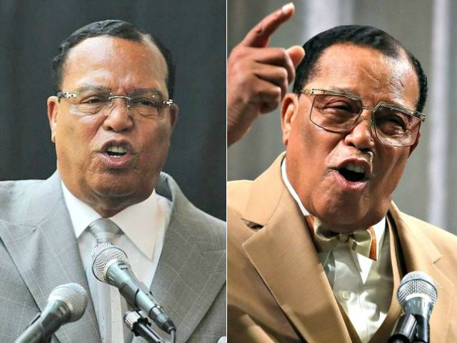 Keith Ellison, Louis Farrakhan Getty Images