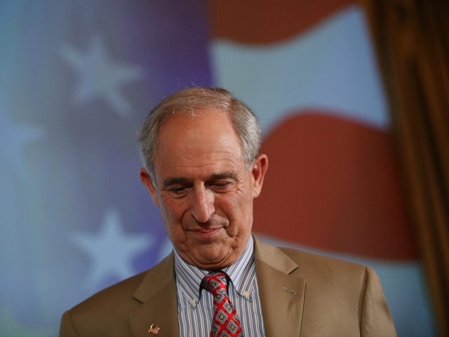 Lanny Davis, former special counsel to Bill Clinton, arrives for a debate with Steve Bannon, former White House Chief Strategist to U.S. President Donald Trump, at Zofin Palace on May 22, 2018 in Prague, Czech Republic. The debate, moderated by former Czech ambassador to the U.S. Alexandr Vondra, was over …