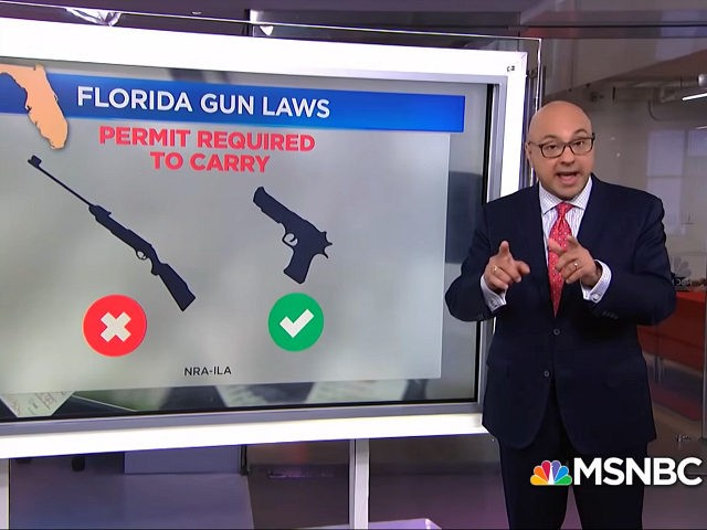 MSNBC host Ali Velshi mocked Florida gun laws in the wake of the Jacksonville shooting