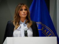 First Lady Melania Trump Tells Parents to Help Kids Stop Cyberbullying