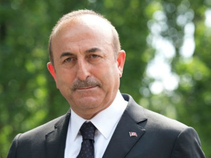 Mevlut Cavusoglu, Foreign Minister of Turkey, visits the memorial site of the arson attack on the house of the Turkish Genc family 25 years ago on May 29, 2018 in Solingen, Germany. On May 29, 1993 neo-Nazis set the house of a Turkish family on fire, resulting in the deaths …