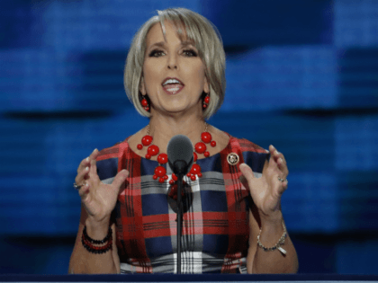 Rep. Michelle Lujan Grisham, D-NM., speaks during the third day of the Democratic National Convention in Philadelphia. A transgender former intern says an apology letter from her to Lujan Grisham is a fake. Riley Del Rey told The Associated Press on Tuesday, Dec. 19, 2017, she never wrote the letter …
