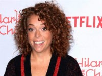 In this March 24, 2018 file photo, Michelle Wolf arrives at the 6th Annual Hilarity For Charity Los Angeles Variety Show in Los Angeles. On Friday, May 11, 2018, The Associated Press has found that stories circulating on the internet that Wolf was fired from her Comedy Central show after …