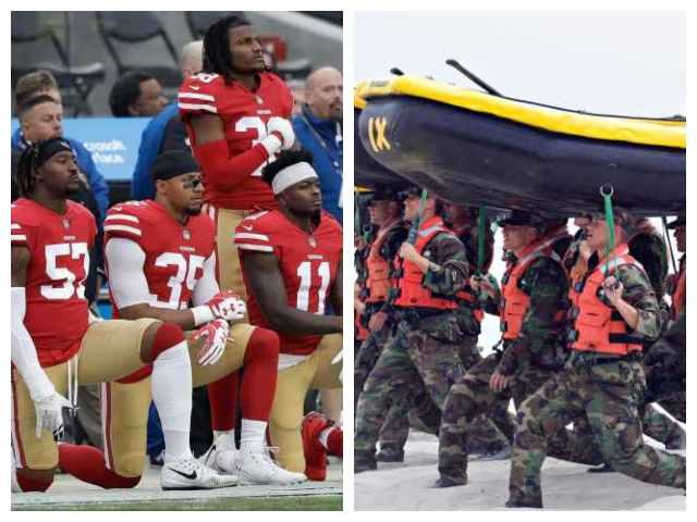 NFL players kneeling during the national anthem compared to Navy SEALs training.
