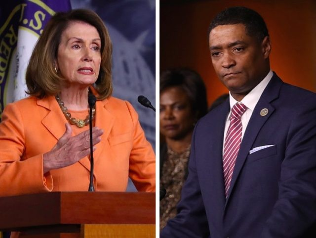 Nancy Pelosi vs. Cedric Richmond (Getty)