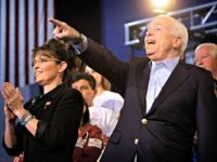 U.S. Sen. John McCain, R-Ariz., and Sarah Palin are announced to the audience during a campaign rally Saturday, March 27, 2010 in Mesa, Ariz . McCain, who is running for another term in the U.S. Senate, was joined by former running mate Sarah Palin for only their second campaign rally …