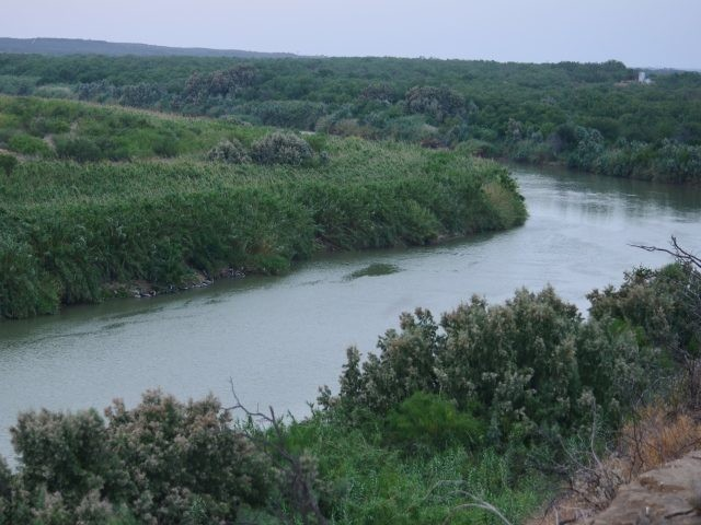 Rio Grande River border with Mexico just south of Laredo. (File Photo: Bob Price/Breitbart Texas)