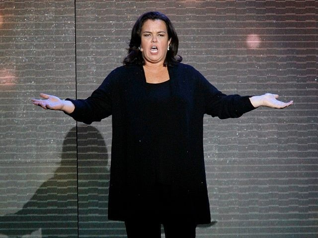 "Rosie O'Donnell appears during a star-studded double-taping of ""Surprise Oprah! A Farewell Spectacular,"" Tuesday, May 17, 2011, in Chicago. ""The Oprah Winfrey Show"" is ending its run May 25, after 25 years, and millions of her fans around the globe are waiting to see how she will close out a …"