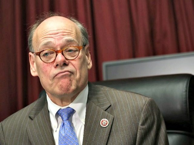 This file photo taken on April 11, 2013 shows US Rep. Steve Cohen (D-TN) speaking to members of the media in his office on Capitol Hill in Washington, DC.