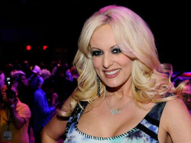 Adult film actress Stormy Daniels appears during an autograph signing for Wicked Pictures at the 2012 AVN Adult Entertainment Expo at The Joint inside the Hard Rock Hotel & Casino January 20, 2012 in Las Vegas, Nevada. (Photo by Ethan Miller/Getty Images)