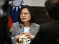 Taiwan's President Tsai Ing-wen takes part in an interview with AFP at the Presidential Office in Taipei on June 25, 2018. - Tsai on June 25 called on the international community to 'constrain' China by standing up for freedoms, casting her island's giant neighbour as a global threat to democracy. …