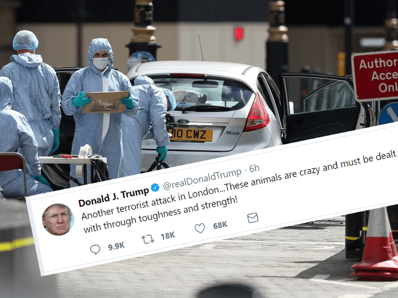 President Trump on London Terror: 'These Animals Must be Dealt With'
