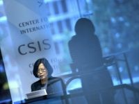 US-TAIWAN-POLITICS Dr. Tsai Ing-wen, Chair of Taiwan's Democratic Progressive Party and a presidential nominee, speaks during an event at the Center for Strategic and International Studies June 3, 2015 in Washington, DC.