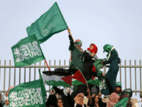 Arab-Israeli women wave Islamic and Palestinian flags during a rally organized by the Islamic Movement on September 11, 2015 in Umm al-Fahm, an Arab-Israeli town 60 kilometers north of Tel Aviv, to show their support for preserving Muslim holy sites in east Jerusalem and to warn of the 'dangers' of …