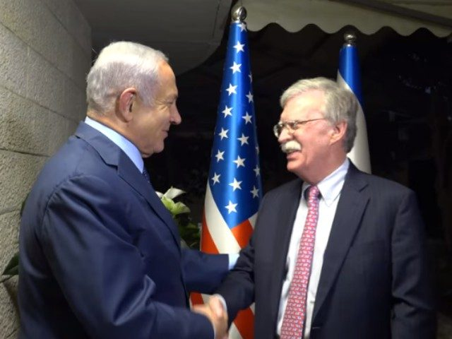"Iran's nuclear weapons and ballistic missile programs ""top the list"" of topics U.S. National Security Advisor John Bolton will broach on his current visit to Israel."