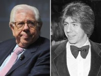 Carl Bernstein in 2017 (L) and 1977 (R).
