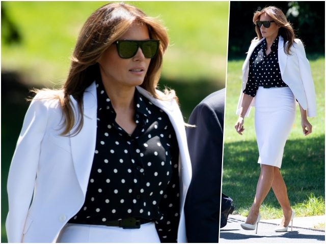 Fashion Notes: Melania Trump Struts in Sharp Michael Kors Suit, Polka Dots