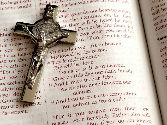 Cross and Bible - Our Father / Lord's Prayer