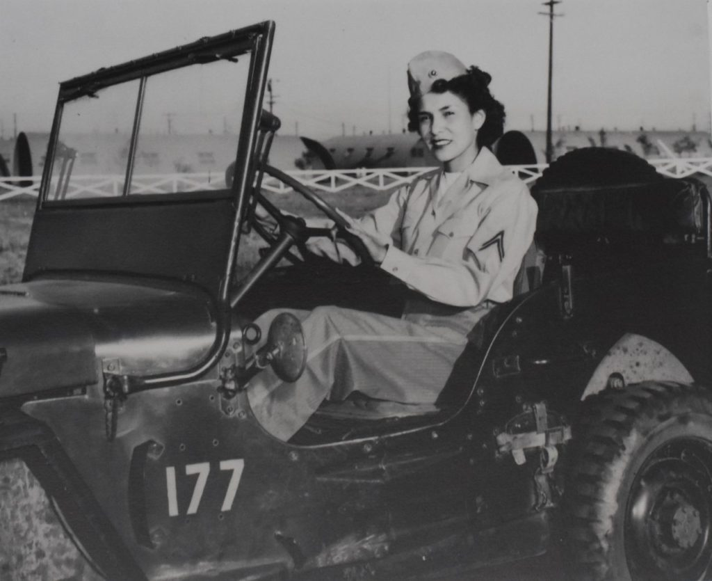 Motor transport driver Corporal Viola A. Eastman, a Chippewa American Indian at Marine Corps Air Station in El Toro, Calif., 1944. [Penny Starr/Breitbart News]