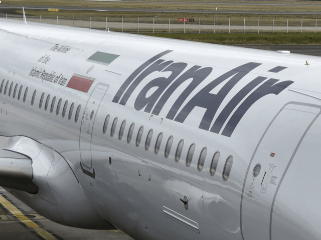 An Airbus A321 bearing the logo of Iran Air is pictured on January 11, 2017 at the Airbus delivery center, in Colomiers southwestern France. Airbus exceeded its delivery targets for 2016 after in a final sprint that allowed it to deliver 688 aircraft to its customers, and it has garnered …