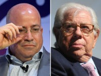 CNN President Jeff Zucker (L) and reporter Carl Bernstein (R).