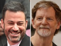 Late-night host Jimmy Kimmel and Masterpiece Cakeshop baker Jack Phillips.