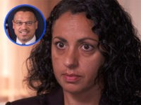 Rep. Keith Ellison's ex-girlfriend, Karen Monahan, who has accused the DNC co-chairman of abusing her during their relationship.
