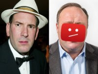 Matt Drudge, editor and founder of the Drudge Report (L), and Infowars host Alex Jones (R).