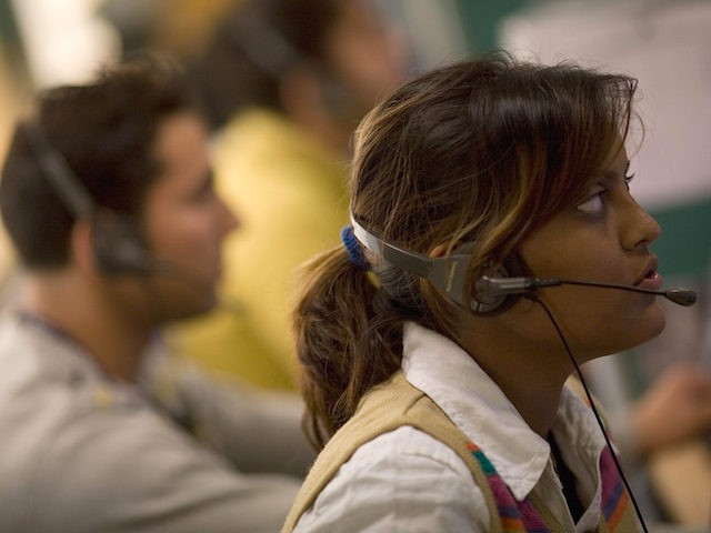 workers at a call-centre