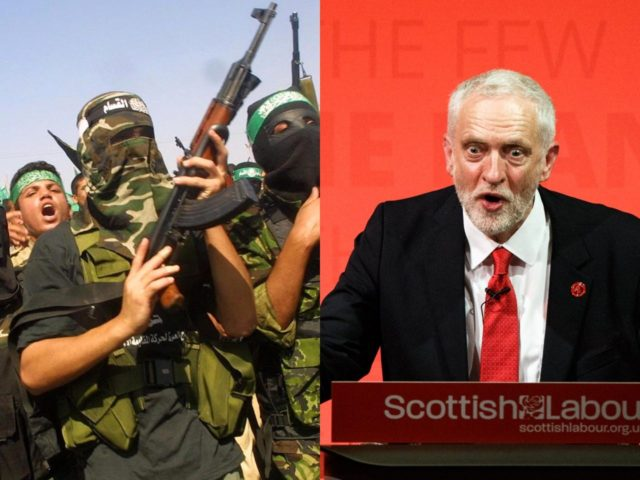 UK Labour Party leader Jeremy Corbyn has been accused of giving his personal support to anti Israel Hamas terrorists who between them killed upwards of 600 people