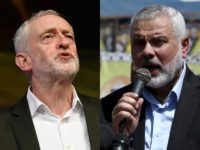 UK Labour Party leader Jeremy Corbyn joined Hamas terrorists at a conference in Doha, sharing a platform with Khaled Mashaal, a jihadi on the UK sanctions list.