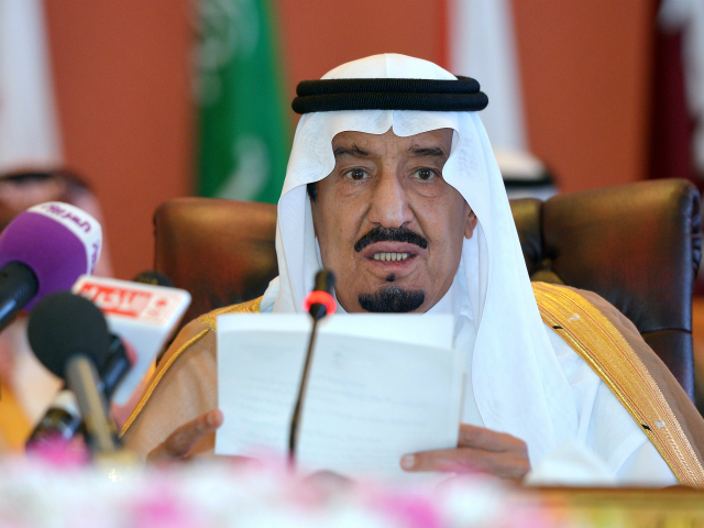Saudi Crown Prince Salman bin Abdulaziz al-Saud speaks during the opening session of the Gulf Cooperation Council on May 14, 2014 in Jeddah, Saudi Arabia. Hagel arrived in the Saudi Arabia, the first leg of a regional tour focusing on Iran's nuclear programme and Syria's civil war. AFP PHOTO/POOL/MANDEL NGAN …