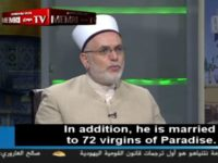 JERUSALEM - Hamas TV recently aired a broadcast of a Gazan Sharia judge urging Palestinians to take up jihad and renounce their attachment to this world, promising them that martyrdom will come with full absolution and marriage to 72 virgins.