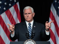 US Vice President Mike Pence speaks about the creation of a new branch of the military, Space Force, at the Pentagon in Washington, DC, on August 9, 2018. (Photo by SAUL LOEB / AFP) (Photo credit should read SAUL LOEB/AFP/Getty Images)