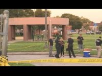 Facebook  Email share image  TITUSVILLE, Fla. - An armed bystander shot a man who open-fired on a back to school event at a Titusville park following a fistfight, police said. The shooting occurred at Isaac Campbell Park on South Street shortly after 5:20 p.m. when the shooter, whom …