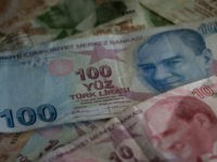 ISTANBUL, TURKEY - NOVEMBER 21: Turkish Lira currency is seen on November 21, 2017 in Istanbul, Turkey. The Turkish Lira plunged to a record low of 3.978 against the dollar in early Tuesday trading. Concern's over deteriorating relations with the U.S. and the central bank continue to effect Turkish markets. …