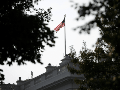 The American flag at the White House flies at full staff August 27, 2018 in Washington, DC. Sen. John McCain (R-AZ), a decorated American war hero and U.S. senator, died August 25, 2018. (Photo by Win McNamee/Getty Images)