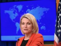 "US State Department spokesperson Heather Nauert, pictured May 2018, says that the US ""continues to support Georgia's sovereignty"" as of the 2008 ceasefire"