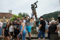 Hundreds of thousands of people descend on the small Serbian town of Guca for its trumpet festival