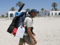 Houij hopes his two-month trek will help convince authorities, holidaymakers and average Tunisians that the sea should not be used as a giant garbage tip
