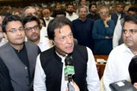 Khan's swearing in ceremony, scheduled for Saturday, will mark the end of decades of rotating leadership between two establishment parties