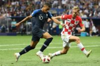 Heart scare: Croatia defender Ivan Strinic in action in the World Cup final